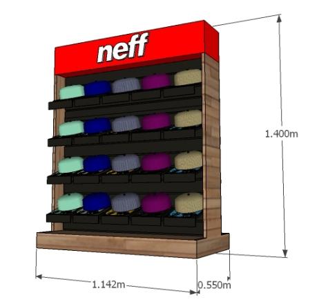 3D_Neff Mueble de Piso Gorras